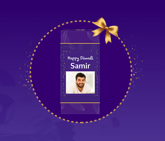 Personalised Diwali Chocolate Gift with Cadbury