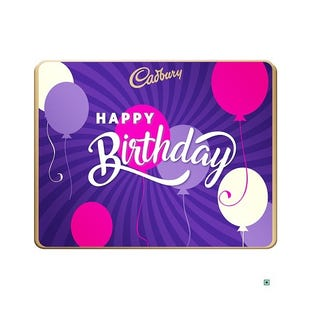 Happy Birthday Tin Box Large With Video Personalisation - Choose Your Mix