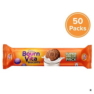 Bournvita Biscuits, 120g-Pack of 50