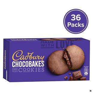 Chocobakes Choc Filled Cookies, 150g-Pack of 36