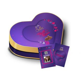 Valentine's Heart Shaped Gift Box with Video Personalisation