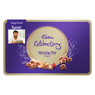 Gift Customised Cadbury Dry Fruit Chocolate Gift Pack