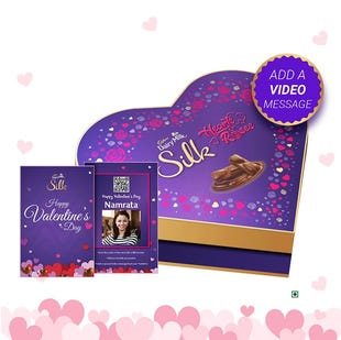 Heart Shaped Chocolates Gift Box with Video Personalisation