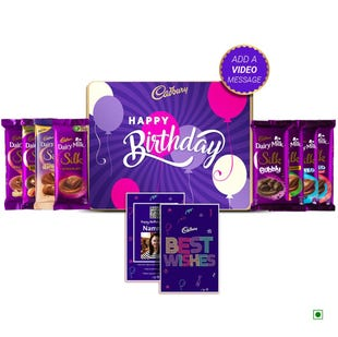 Cadbury Premium Birthday Tin Box - Large Pack with Video Personalisation (Create Your Own Mix)