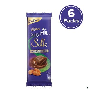 Dairy Milk Silk Roast Almond - 58g - Pack of 6