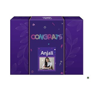Congrats Personalised Neon Gift Pack with the Goodness of Chocolate and Nuts