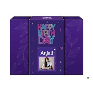 Happy Birthday Personalised Neon Gift Pack with the Goodness of Chocolate and Nuts